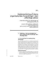 Implementering af organisatoriske forandringer i ... - DIOS Consulting