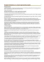 Strategisk Risikoledelse set i et dansk organisatorisk perspektiv - CBS