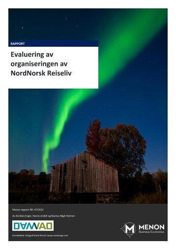 Evaluering av organiseringen av NordNorsk Reiseliv - Menon