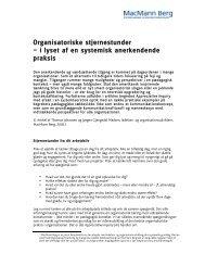 Pædagogiske og organisatoriske stjernestunder - MacMann Berg