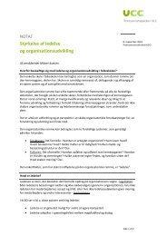 Styrkelse af ledelse og organisationsudvikling