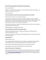 Referat fra bestyrelsesmøde i Dansk Selskab for Neurovidenskab