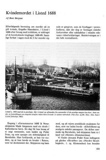 Kvindemordet i Listed 1688 - Bornholms Historiske Samfund