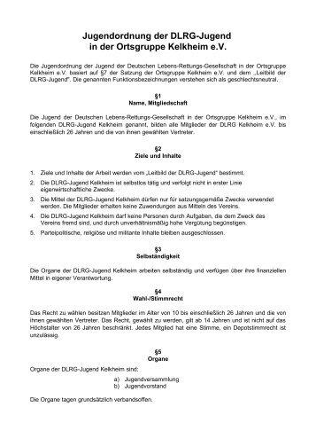 Jugendordnung der DLRG im Bezirk Main e.V. - DLRG-Jugend ...