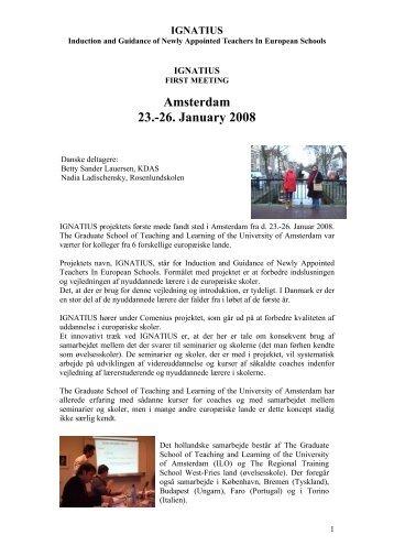 IGNATIUS – FIRST MEETING - report - the IGNATIUS project