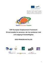 Good practice catalogue - European Outplacement Framework