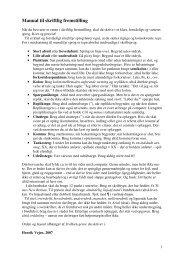 Manual til skriftlig fremstilling - Emu
