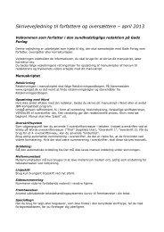 Skrivevejledning til forfattere og oversættere – april 2013 - Gad