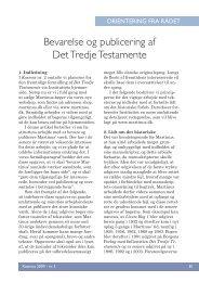 Bevarelse og publicering af Det Tredje Testamente - Martinus Institut