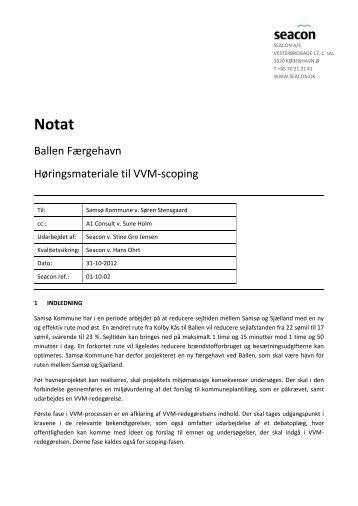 Ballen Færgehavn Høringsmateriale til VVM ... - Samsø Kommune