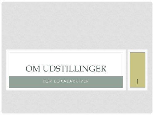 OM UDSTILLINGER - LASS