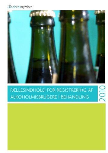 Fællesindhold for registrering af alkoholmisbrugere i behandling