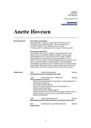 Anette Hovesen - Easy Match ApS