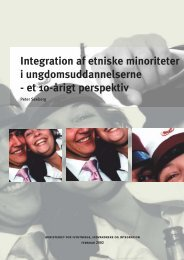 Integration af etniske minoriteter i ungdomsuddannelserne ... - Social