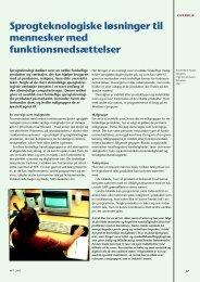 Sprogteknologiske løsninger til mennesker med funktionsnedsættelser