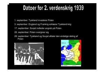 England og Frankrig erklærer Tyskland krig 17. september: Sovjet ...