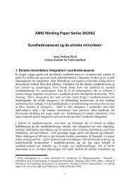 Sundhedsvæsenet og de etniske minoriteter - AMID: Academy for ...