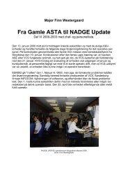 Fra Gamle ASTA til NADGE Update