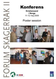 Poster session - Projekt Skagerrak
