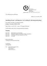 Innkalling til møte i avdelingsstyret ved Avdeling for ...