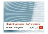 Gevinstrealisering i SAP prosjekter Morten Ellingsen - ADFAHRER