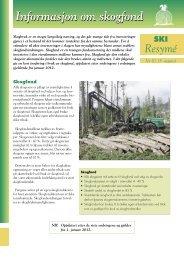 Informasjon om skogfond - Skogbrukets kursinstitutt