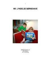 Den gule mappe (pdf-fil, åbner i nyt vindue) - Nr. Lyndelse Børnehave