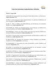 Liste der betreuten studentischen Arbeiten - IDS