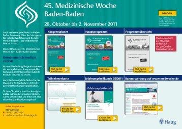 45. Medizinische Woche Baden-Baden
