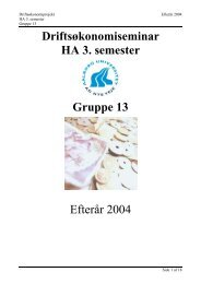 Driftsøkonomiseminar HA 3. semester - Susanne Lund Axelgaards ...