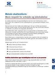 Metals skattereform: Mere respekt for arbejde og ... - Dansk Metal