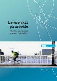 Her kan du læse rapporten Lavere skat på arbejde - Finansministeriet