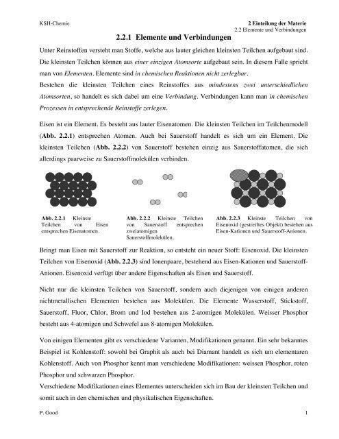 221 Elemente Und Verbindungen
