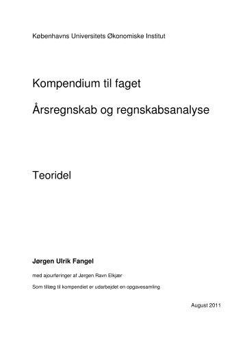 Kompendium til faget Årsregnskab og regnskabsanalyse - Elkjær ...
