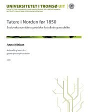 Tatere i Norden før 1850 - Munin - Universitetet i Tromsø