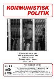 Kommunistisk Politik 21, 2005