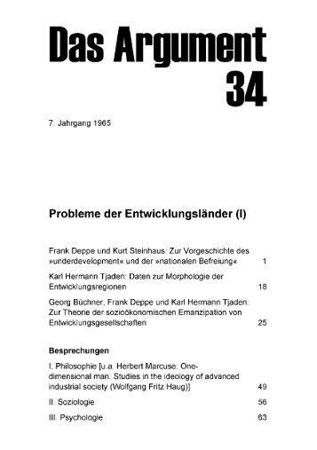 Probleme der Entwicklungsländer - Berliner Institut für kritische ...
