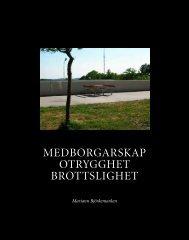 medborgarskap otrygghet brottslighet - Tryggare Mänskligare ...
