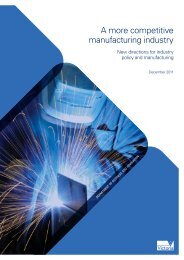 A more competitive manufacturing industry - Department of Business ...