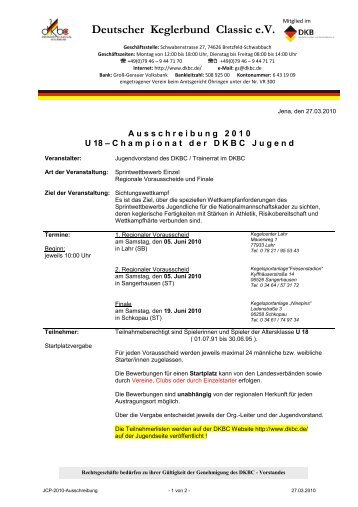 Ausschreibung - Alt.dkbc.de - DKBC