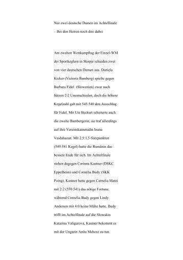 2. Pressemitteilung zum zweiten Wettkampftag - Alt.dkbc.de