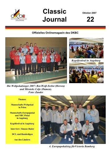 Classic-Journal 22/2007 - Alt.dkbc.de - DKBC