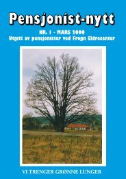 NR. 1 - maRs 2000 Utgitt av pensjonister ved Frogn ... - Pensjonist-nytt