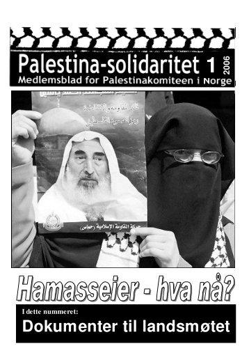 Palestina-solidaritet nr 1, 2006 - Palestinakomiteen i Norge