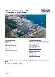 Priser og forretningsbetingelser 2013 for ... - Lindø Industripark