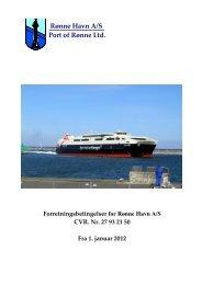 Indholdsfortegnelse - Rønne Havn