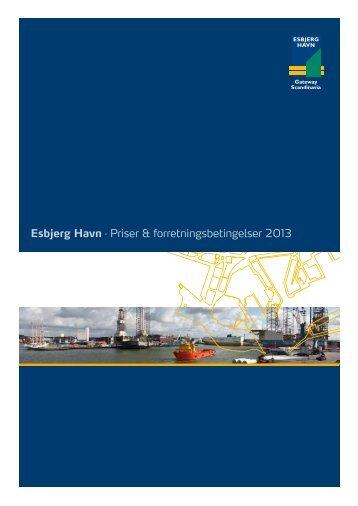 Esbjerg Havn · Priser & forretningsbetingelser 2013