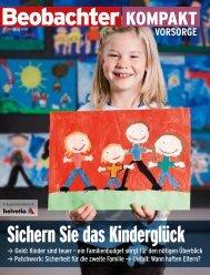 Beobachter Kompakt Vorsorge: Sichern Sie das Kinderglück