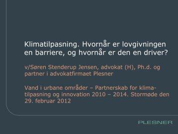 Eksisterende lovgivning omkring klimatilpasning - Vand i Byer
