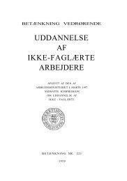 UDDANNELSE AF IKKE-FAGLÆRTE ARBEJDERE